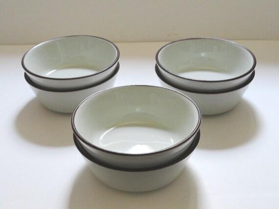 Denby Langley Summit Celedon Coup Cereal Bowls Set of 6