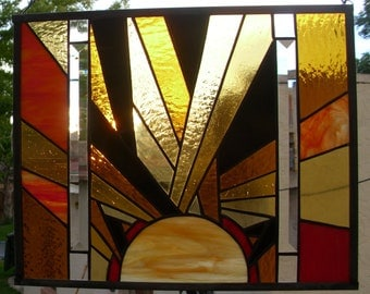 mrudinsky1 Custom • Stained Glass Window Panel  Sunshine