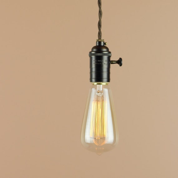 Items Similar To Bare Bulb Pendant Light