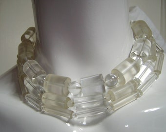 JAY FEINBERG Clear Lucite Choker Necklace