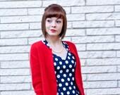 Pin-Up Perfect Red Angora Sweater - S