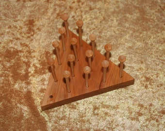 Hand Crafted Triangle Peg Game  (PG0012)