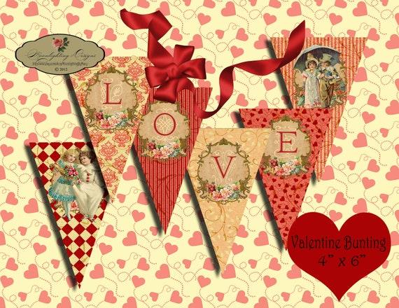 Items similar to VALENTINE LOVE GARLAND - Printable ...