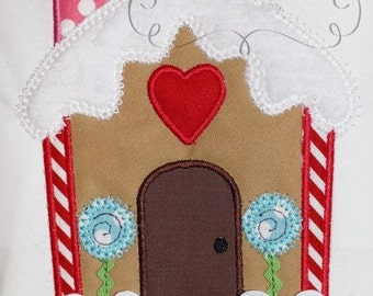 Christmas RicRac Gingerbread House  Digital Embroidery Design Machine Applique