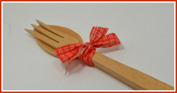 Eames Wooden Serving Fork & Spoon Betson's Japan Mid Century