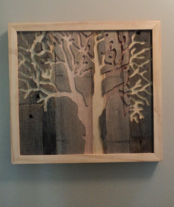 Rustic Pallet Wood Tree Wall Art Indoor Outdoor