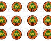 Wilderness Explorer badge pin bottlecap image sheet
