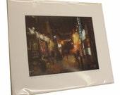 Ashton Lane, Glasgow signed and mounted print (part 1)