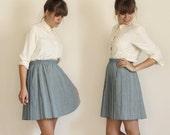 high waisted pleated mini skirt (m-l)