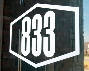 Address with Border 9 (Small) - Vinyl Decal