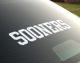 SOONERS - Vinyl Decal - University of Oklahoma