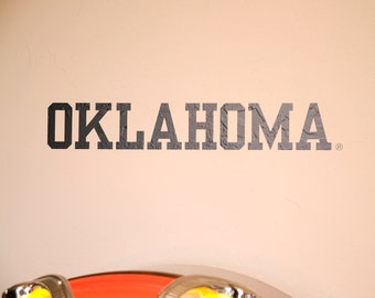OKLAHOMA - Wall Decal - University of Oklahoma