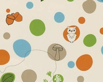 SALE - Day at the Zoo - Cream Dots from Camelot Cottons