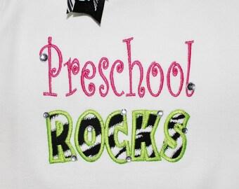 Preschool ROCKS - Applique - Machine Embroidery Design -  6 sizes