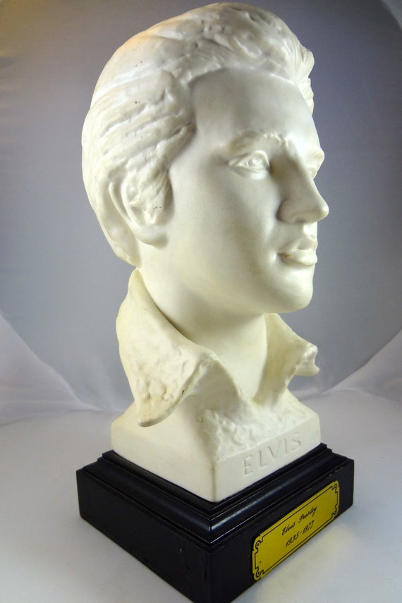 Vintage Elvis Presley Head Bust Statue By Righteousrecycling