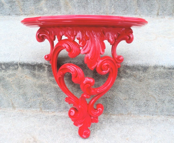 Gorgoues Red Ornate Wall Shelf
