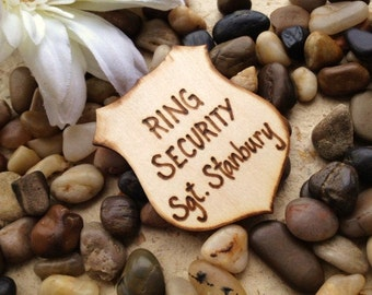 Ring Bearer Ring Security Badge for your Ring Bearer in your Rustic Wedding - Make him feel special and important