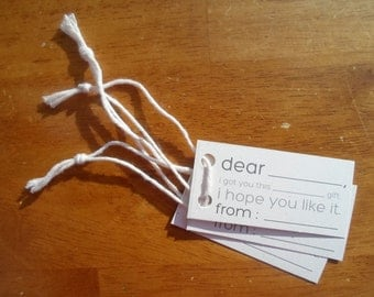 I Hope You Like This - Funny Gift Tags - 3 PACK (100% Recycled Paper)