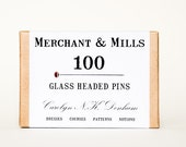 Box of 100 Glass Headed Pins by Merchant & Mills