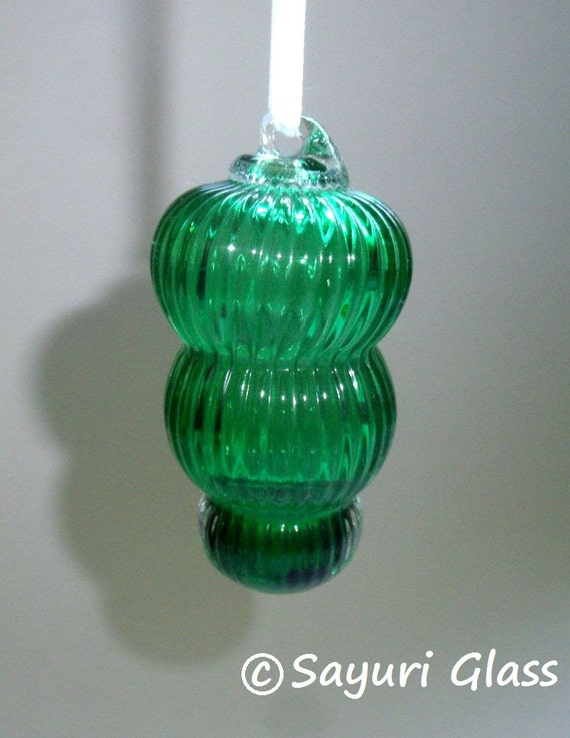 Mini Ornament - Jewel Color Series- Emerald with Clear Hook  : DISASTER RELIEF