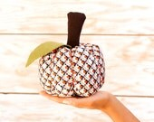 "Handmade Fabric Pumpkins, Halloween Decor, Pincushion, 6 x 5"" - 15 x12 cm"