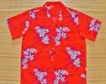 Mens Vintage 50s Tropical Hawaiian Rockabilly Aloha Tiki Shirt - L - The Hana Shirt Co