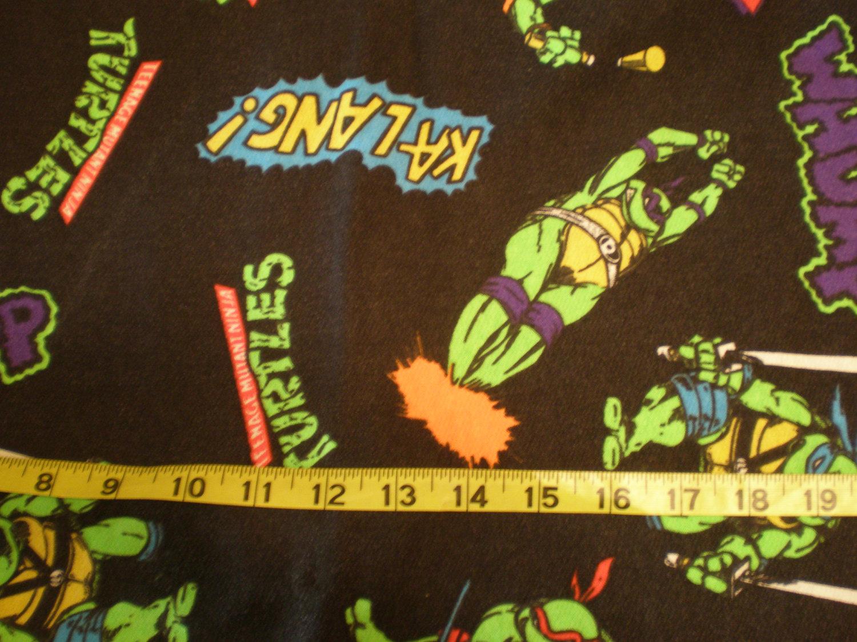 1yd awesome original Teenage Mutant Ninja Turtles knit fabric
