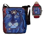 Lion Watch and Matching Lion Bucket Handbag by Salvador Kitti