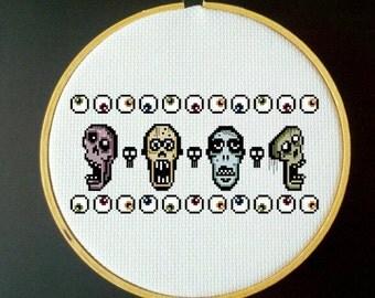 ParaNorman Zombie Cross Stitch PDF Pattern