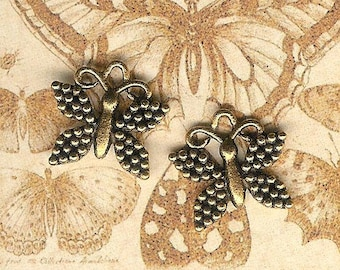 DOLLAR DEAL,Antique Gold Butterfly Charm- 3 pieces