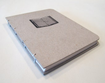 Writer's Handmade Journal Notebook: Hardbound Coptic Small Book
