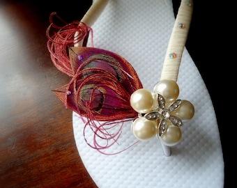 Burgundy Bridal Flip Flops. Red - Marsala shoes , marsala bridal flip flops- weddings -Burgundy -MUST HAVE Collection