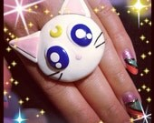 Luna & Artemis Inspired Ring/Sailor Moon/Sailor Venus