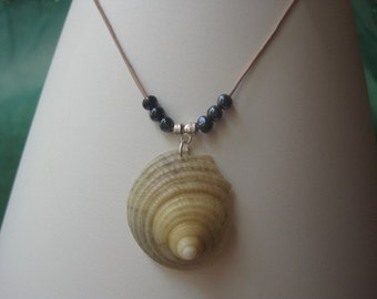 Seashell Spire and Hematite Necklace