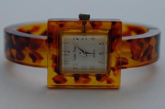 Working Vintage Louis Pion Tortoise Shell Watch