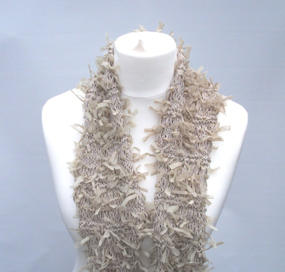 Beige Fashion scarf  UK seller Reserved for BUmblebean