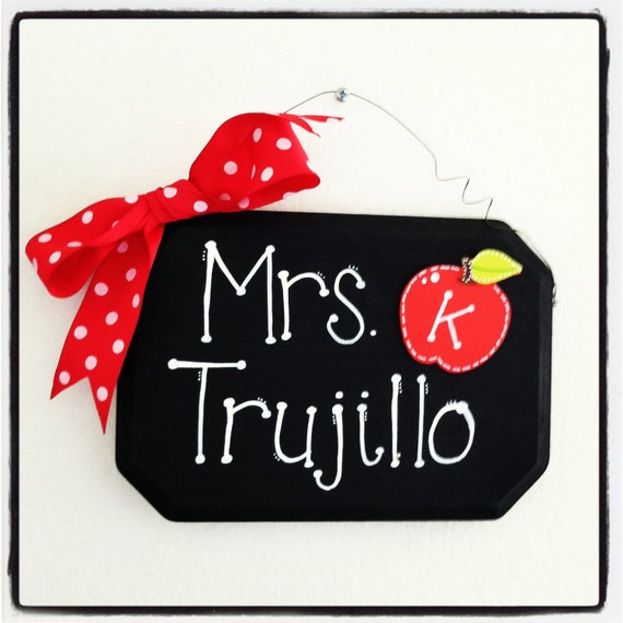 Personalized Teacher Name Sign- Dots Writing
