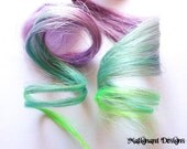 Reserved Listing for misskiarnamarie - Pair of 20 inch Pastel Purple and Blue / Pastel Pink and Purple Human Hair Extensions