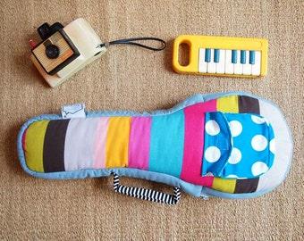 Soprano ukulele case - Pastel Pop - Colorful Stripe - Ukulele Bag (Soprano Size) - made to order