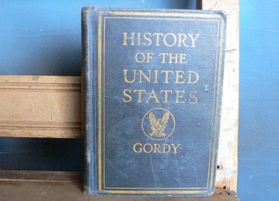 1932 textbook History Of The United States worn book decor from Diz HasNeat Stuff