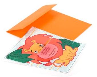 Roaring Lion Invitation - Printable PDF