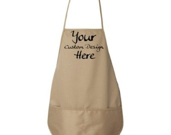 Custom Embroidered Apron--More Colors