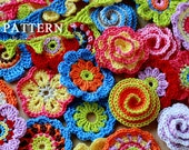Crochet Patterns - Big Flower Party (Pattern No. 001) - INSTANT DIGITAL DOWNLOAD