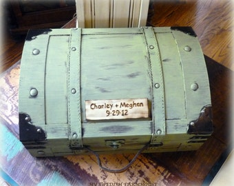 Card Box Trunk Wine Love Letter Ceremony Anniversary Rustic Winter Wedding (YOUR COLOR CHOICE)