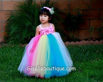 Flower girl dress Cup Cake Tutu Dress II.baby tutu dress, toddler tutu dress, wedding, birthday, Newborn,