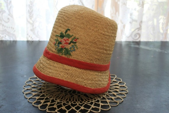 Vintage Woven Handmade Childrens Hat