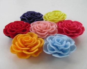 Rose Pattern TIFFANY ROSE No Sew Felt Flower Tutorial Rose Flower Pattern Hairclip Headband Brooch Pin Accessory PDF ePattern eBook Tutorial