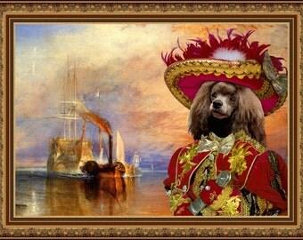 Poodle Art CANVAS Print Fine Artwork of Nobility Dogs Dog Portrait Dog Painting Dog Art Dog Print
