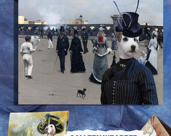 Parson Russell Terrier / Jack Russell Terrier Art CANVAS Print Fine Artwork of Nobility Dogs Dog Portrait Dog Painting Dog Art Dog Print