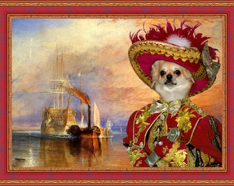 Chihuahua Art/Chihuahua Canvas Print/Fine Artwork/Dog Portrait/Dog Painting/Dog Art/Dog Print/Custom Dog Art By Nobility Dogs